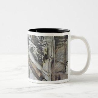Alivio de la apoteosis del emperador Antoninus Taza De Café De Dos Colores