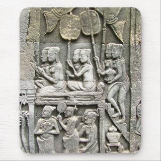 Alivio de la pared del templo de Bayon - honrar al Alfombrilla De Ratón