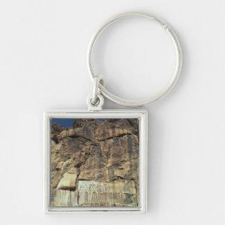 Alivio de la roca del Achaemenid de rey Darius I Llavero Personalizado