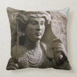 Alivio de la tumba del busto del retrato, romano,  cojines