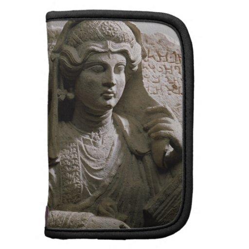 Alivio de la tumba del busto del retrato, romano,  planificador