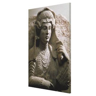 Alivio de la tumba del busto del retrato, romano,  lona estirada galerías