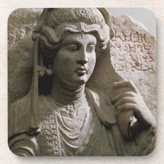 Alivio de la tumba del busto del retrato, romano,  posavasos de bebidas
