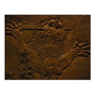 alivio de piedra asirio en mesopotamia postales