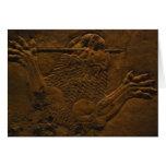 alivio de piedra asirio en mesopotamia septentrion felicitaciones