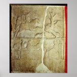 Alivio de Stela que representa una caza del jabalí Impresiones