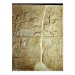 Alivio de Stela que representa una caza del jabalí Postales