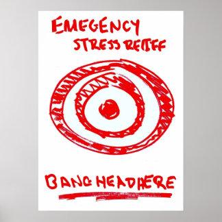 Alivio de tensión de la emergencia póster