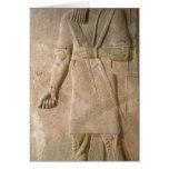 Alivio de un guerrero asirio tarjeta