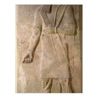 Alivio de un guerrero asirio tarjeta postal