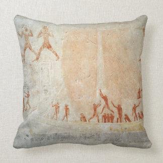 Alivio del Mastaba de Akhethotep que representa a  Almohada