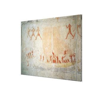 Alivio del Mastaba de Akhethotep que representa a  Impresión En Tela