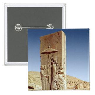 Alivio en el Pasillo de cientos columnas Pin Cuadrado