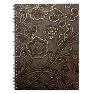 Alivio floral de bronce libreta