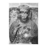 Alivio funerario de una figura femenina, de impresión en lona estirada