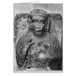 Alivio funerario de una figura femenina, de tarjeta de felicitación