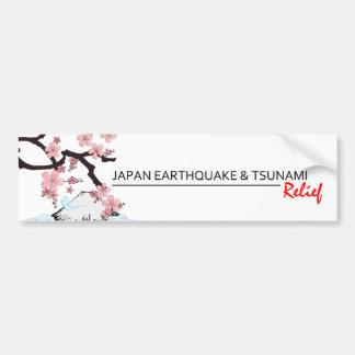 Alivio *Japan del terremoto/del tsunami * pegatina Pegatina Para Auto