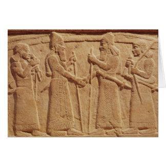 Alivio que representa a rey Shalmaneser III Tarjeta De Felicitación