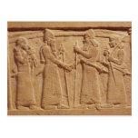 Alivio que representa a rey Shalmaneser III Tarjeta Postal