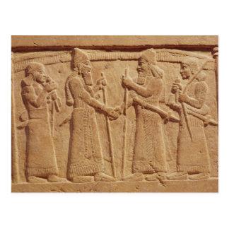 Alivio que representa a rey Shalmaneser III Postal