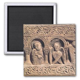Alivio que representa a santos con un seraph imán de nevera