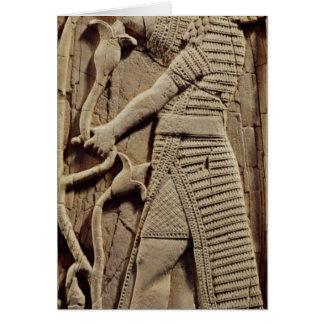 Alivio que representa a un guerrero tarjeta de felicitación