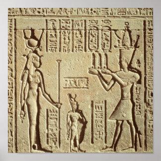 Alivio que representa a un pharaoh posters