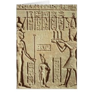 Alivio que representa a un pharaoh tarjeta de felicitación