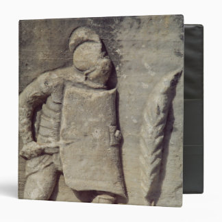 """Alivio que representa a un soldado romano carpeta 1 1/2"""""""