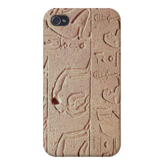 Alivio que representa acróbatas y a un arpista iPhone 4 funda