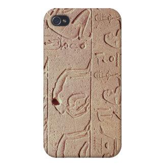 Alivio que representa acróbatas y a un arpista iPhone 4 fundas
