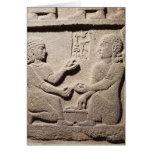 Alivio que representa al hijo de rey Araras Tarjeta