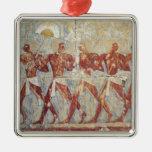 Alivio que representa desfile en honor de Hathor Ornamentos De Navidad