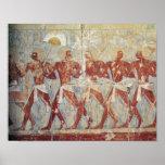 Alivio que representa desfile en honor de Hathor Impresiones
