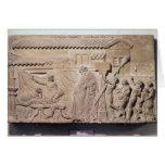 Alivio que representa Dionysus en el hogar de Tarjeta De Felicitación