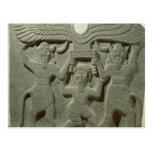 Alivio que representa Gilgamesh entre dos Postal