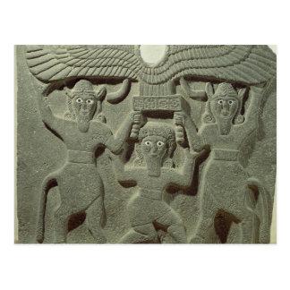 Alivio que representa Gilgamesh entre dos Postales