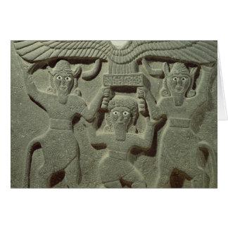Alivio que representa Gilgamesh entre dos Tarjeta De Felicitación