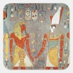 Alivio que representa Horemheb antes de Horus Etiqueta