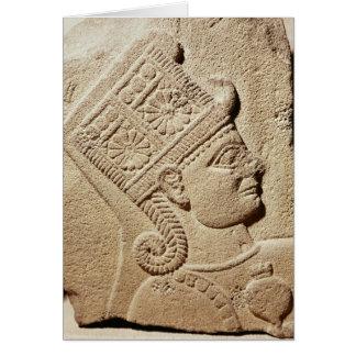 Alivio que representa la cabeza de un príncipe jov tarjeta de felicitación