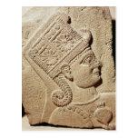 Alivio que representa la cabeza de un príncipe jov postales