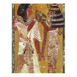 Alivio que representa la colocación de Hathor de Tarjetas Postales