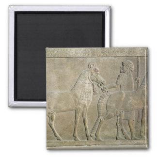 Alivio que representa los tributarios de Sargon II Imán Cuadrado