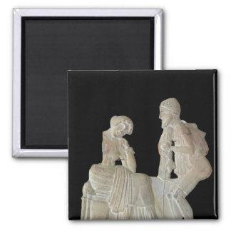 Alivio que representa Odiseo y Penélope Imán De Frigorifico