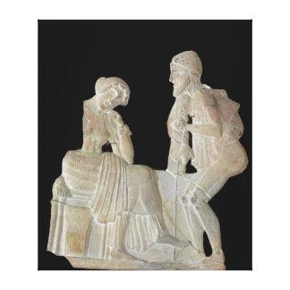 Alivio que representa Odiseo y Penélope Lienzo Envuelto Para Galerías