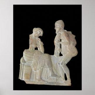 Alivio que representa Odiseo y Penélope Posters
