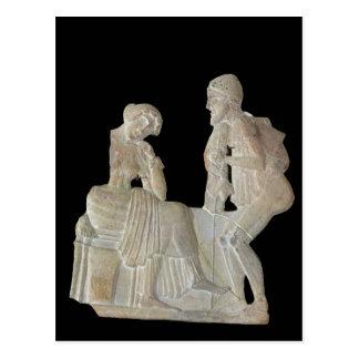 Alivio que representa Odiseo y Penélope Tarjetas Postales