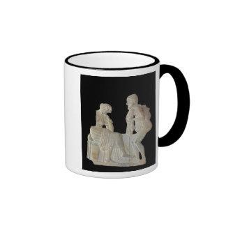 Alivio que representa Odiseo y Penélope Taza De Dos Colores