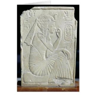 Alivio que representa Ramesses II como niño Tarjeta