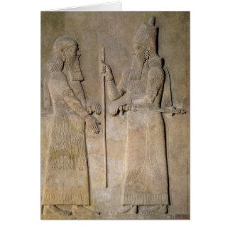 Alivio que representa Sargon II y a un vizier Tarjetas